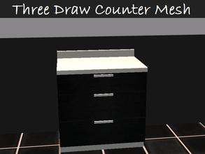 Sims 2 — Three Draw Counter Mesh by staceylynmay2 — black and white three door counter mesh