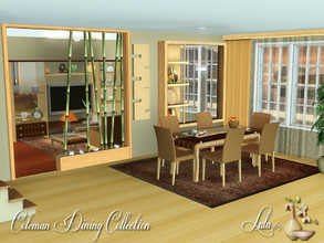 Sims 3 — Coleman Dining Collection by Lulu265 — A neutral colored environmental friendly dining/ living set.The set