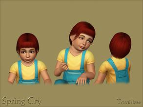 Sims 3 — Toddler Hair ~ Spring Cry by Tomislaw — Resized Adult version of this hairstyle for Your little Simmies. :)