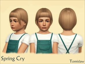 Sims 3 — Child Hair ~ Spring Cry by Tomislaw — Resized Adult version of this hairstyle for Your little Simmies. :) Enough