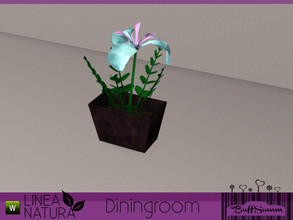 Sims 3 — Linea Natura Dining Iris by BuffSumm — Part of the *Linea Natura Series - Dining* ***TSRAA***