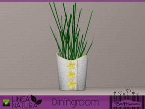Sims 3 — Linea Natura Dining Grasflower by BuffSumm — Part of the *Linea Natura Series - Dining* ***TSRAA***