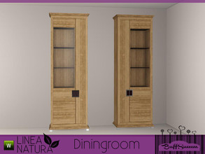 Sims 3 — Linea Natura Dining Cabinet A by BuffSumm — Part of the *Linea Natura Series - Dining* ***TSRAA***