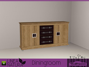 Sims 3 — Linea Natura Dining Sideboard by BuffSumm — Part of the *Linea Natura Series - Dining* ***TSRAA***
