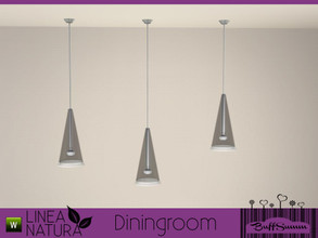 Sims 3 — Linea Natura Dining Ceilinglamp by BuffSumm — Part of the *Linea Natura Series - Dining* ***TSRAA***