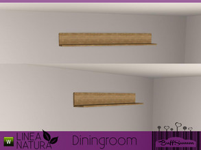 Sims 3 — Linea Natura Dining Wallshelf by BuffSumm — Part of the *Linea Natura Series - Dining* ***TSRAA***