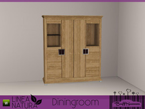 Sims 3 — Linea Natura Dining Cabinet C by BuffSumm — Part of the *Linea Natura Series - Dining* ***TSRAA***