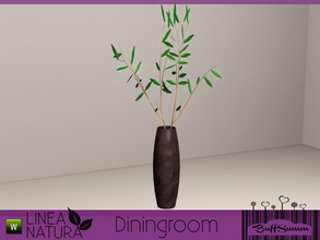 Sims 3 — Linea Natura Dining Floorvase by BuffSumm — Part of the *Linea Natura Series - Dining* ***TSRAA***