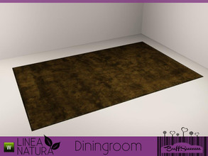 Sims 3 — Linea Natura Dining Rug by BuffSumm — Part of the *Linea Natura Series - Dining* ***TSRAA***