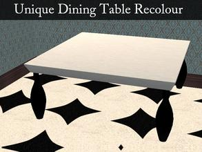 Sims 2 — Unique Dining Table Recolour by staceylynmay2 — Dining table recolour. White with black legs. mesh is needed