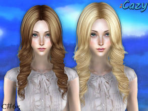 Sims 2 — Bynes Hair - Mesh by Cazy — Mesh file