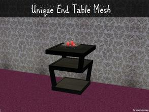 Sims 2 — Unique End Table Mesh by staceylynmay2 — A black unique end table mesh. You may recolour if you would like more