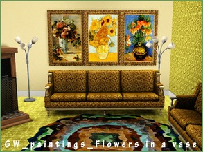 Sims 3 — GW paintings Flowers in a vase 3 items by Gvendolin2 — Painting flowers in a vase decorate your home and hostel