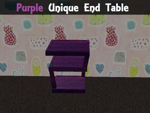 Sims 2 — Purple Unique End Table by staceylynmay2 — Purple unique end table.
