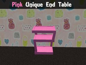 Sims 2 — Pink Unique End Table by staceylynmay2 — Pink unique end table