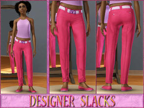 Sims 3 — Teen Designer Slacks-Female by terriecason — Finery at its best. Ages: Teen Gender: Female Clothing Category: