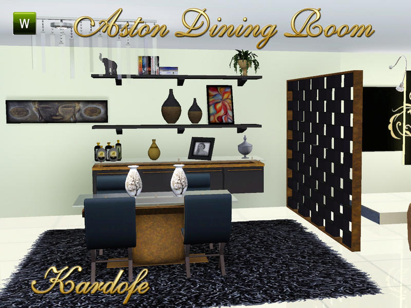 Kardofe 39 s kar aston dining room for Sims 3 dining room ideas