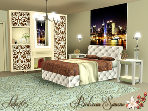 Sims 3 — Bedroom Simone by Lulu265 — An elegant but understated bedroom. modern but with a touch of old world charm. the