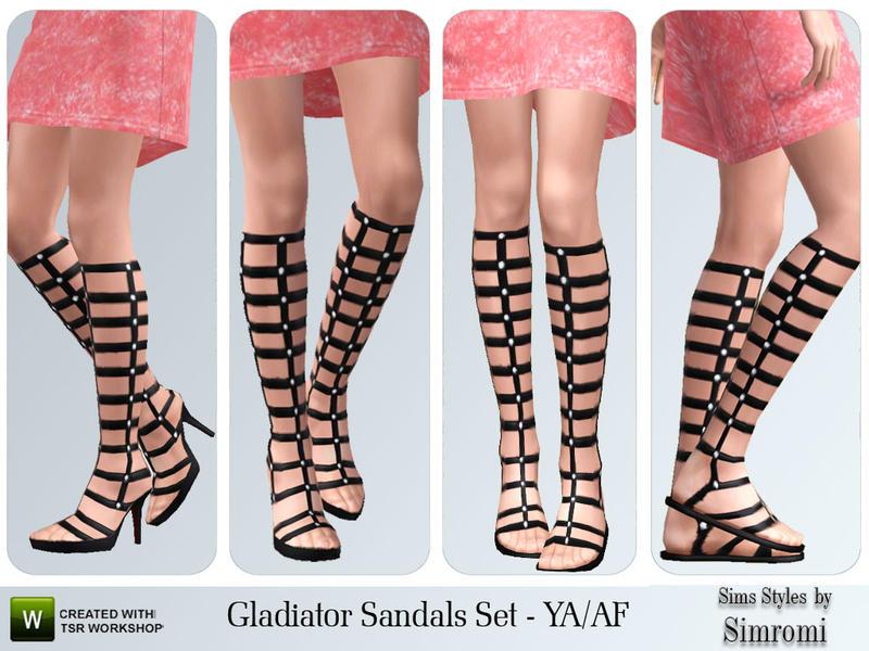 simromi's Gladiator Sandal Set for YA/AF