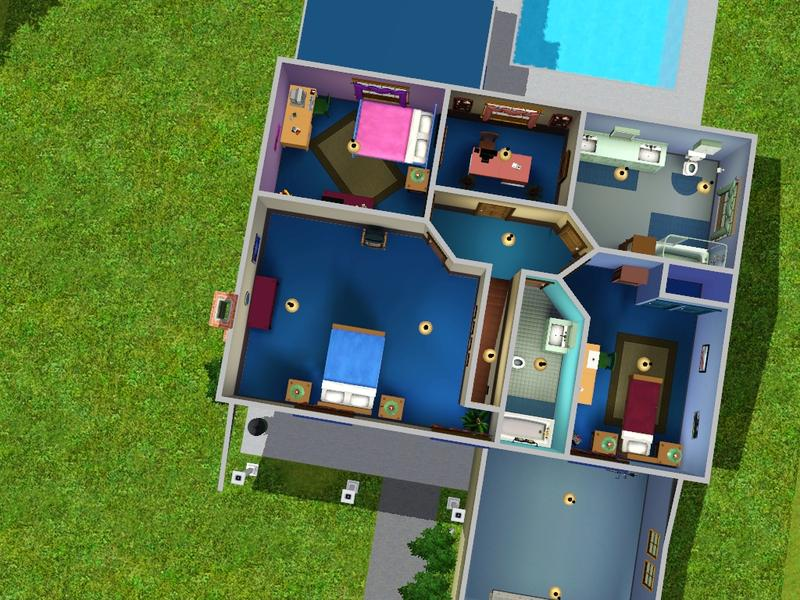 Sims  Houses  Rooms
