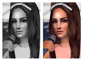 Sims 2 — Beehive Basics - MESH by Cleotopia — A low poly simple hairstyle, Beehive Basic for hairstyles like my Lana Del
