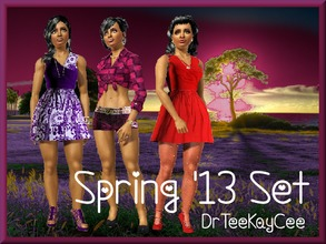 Sims 3 — Springing Up 2013 by drteekaycee — This set is fresh and fun as Spring has sprung! It consists of 2 dresses that