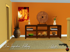Sims 3 — Inspiration Hallway by Lulu265 — A small hallway set for that bare corner of you home. Bright and bold this will