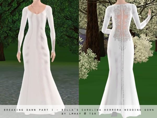 Lmway 39 s breaking dawn part i bella swan 39 s wedding gown for Bella swan wedding dress