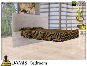 Sims 3 — adamis double bed by jomsims — adamis double bed