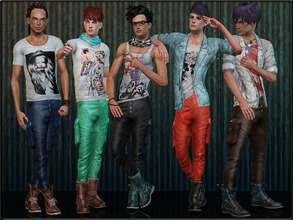Sims 3 — MaleFashionSet5 by Shojoangel — Hi...fashionable and trendy set for your male sims...set included t-shirt,