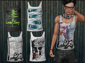 Sims 3 — MaleFashionSet5_TankTop by Shojoangel — Hi...recolorable, 4 styles...have a nice day :D