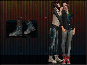 Sims 3 — ShoeSet4_Boots--Female by Shojoangel — Hi...fashionable and trendy boots for your sims...recolorable...thanks on