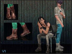 Sims 3 — ShoeSet4_Boots-V1--Male by Shojoangel — Hi...fashionable and trendy boots for your sims...recolorable...thanks