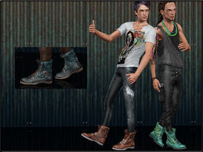 Sims 3 — ShoeSet4_Boots--Male by Shojoangel — Hi...fashionable and trendy boots for your sims...recolorable...thanks on