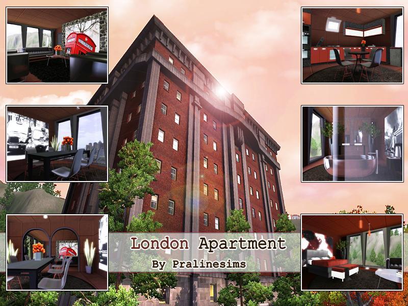 Pralinesims 39 london apartment for Apartment design sims 3