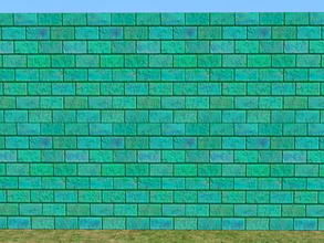 Sims 2 — Bright Skybrick Set - aquatic by zaligelover2 — Bright bricks to create your walls.