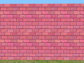 Sims 2 — Bright Skybrick Set - rose by zaligelover2 — Bright bricks to create your walls.