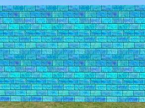 Sims 2 — Bright Skybrick Set - pool by zaligelover2 — Bright bricks to create your walls.