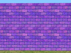 Sims 2 — Bright Skybrick Set - violet by zaligelover2 — Bright bricks to create your walls.