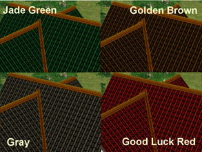 Sims 2 — A Set of 4 Two-Tone Roofs by eliseluong2 — Four beautiful two-tone roofs for beautiful houses. These are