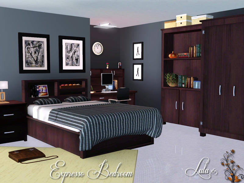Lulu265 39 s expresso bedroom for Sims 3 master bedroom ideas