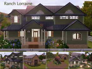 Sims 3 — Ranch Lorraine by Demented_Designs — Ranch style family farm with 3 bedrooms, 3 baths, room for 4 horses in the
