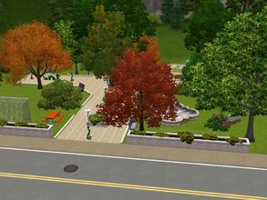 Sims 3 — Sunset Park by Silerna — A small park with alot to do for sims of every age! You can play soccer and chess, take