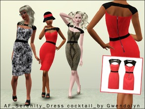 Sims 3 — AF_Serenity_Dress cocktail_by Gwendolyn by Gvendolin2 — In this charming evening dress you are - itself