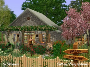 Sims 3 — Little Cottage Fairy Dream by Wimmie — This little stone cottage is the perfect home for your fairy or a good