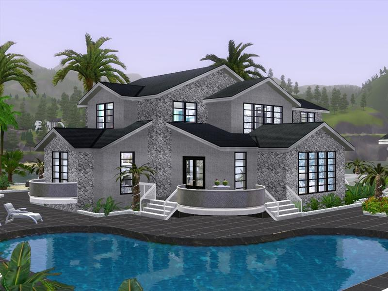 Gox35 39 s modern beach resort for Beach house plans sims 3