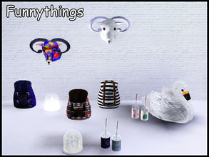 Sims 3 — stefforfunnythings by steffor — some clutter items... the swan is a livingchair ;-)