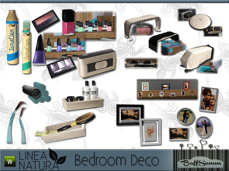 Buffsumm 39 s linea natura bedroom pt 2 for Bathroom decor sims 3