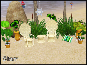 Sims 3 — stefforstarr by steffor — okdok, lets go to the beach and relax! btw you can download the ikat pattern which I