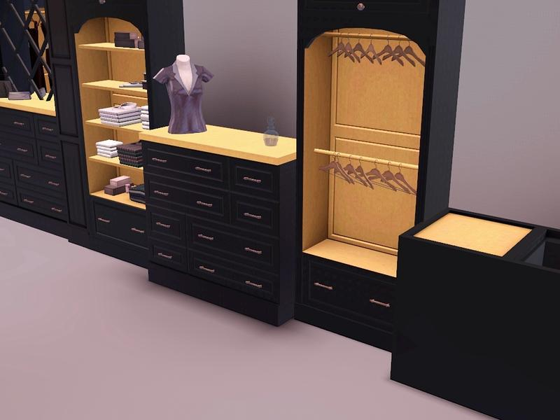 Flovv's Brown Cherry Closet The Sims Resource